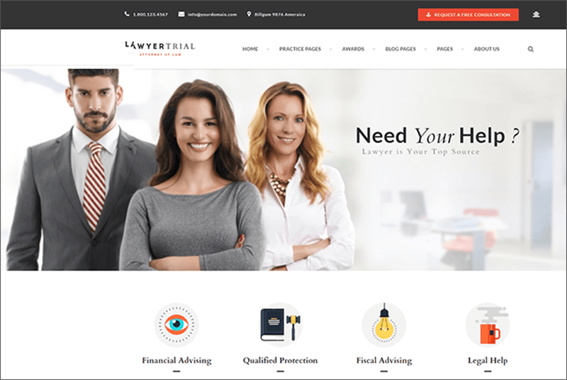 Attorney, Lawyer and Law Agency Joomla Template