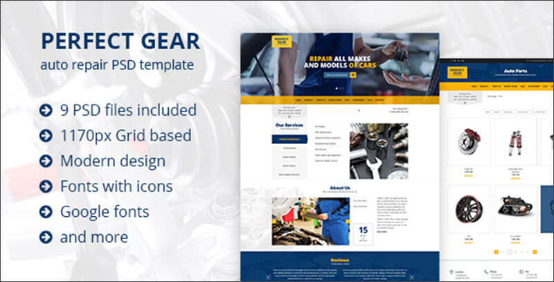 Automative Industry PSD Template