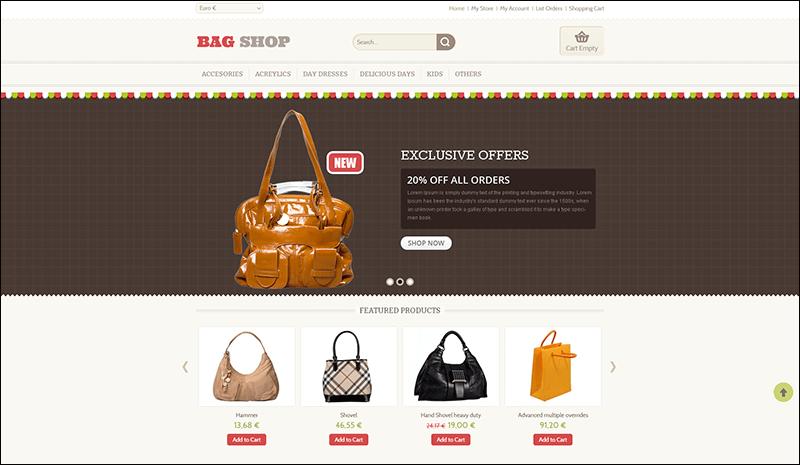Bag Shop - VirtueMart Responsive Template - Copy