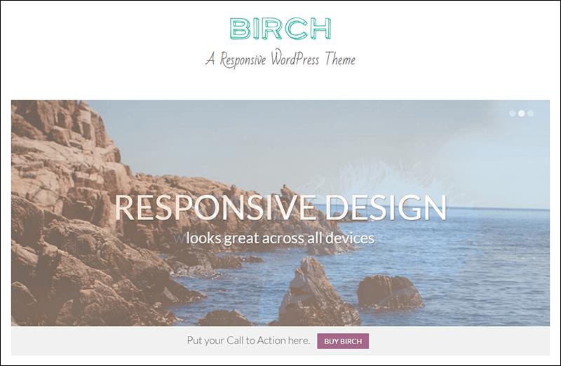 Birch » A Responsive WordPress Theme