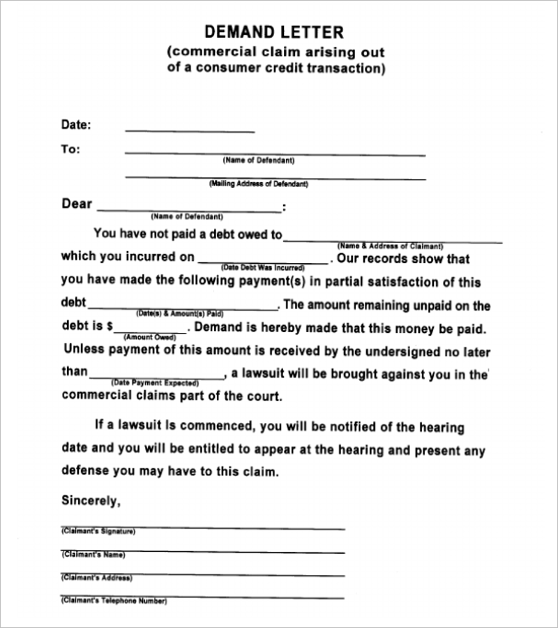 blank formal letter template