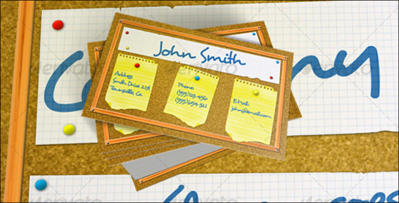 Bulletin Board Business Card