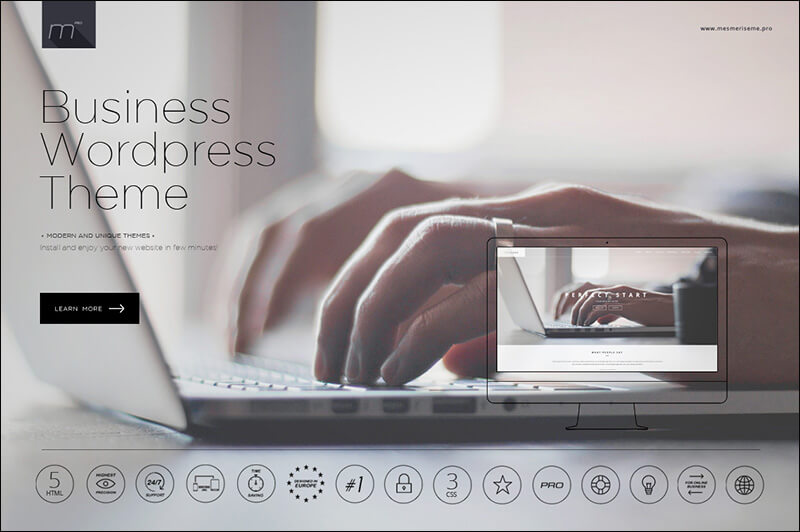 Business WP Theme One Page WordPress