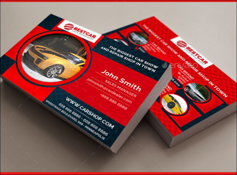 IT Services Business Card Templates Free Printable Card - Automotive business card templates