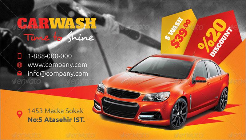 Car Wash Business Card Templates 2