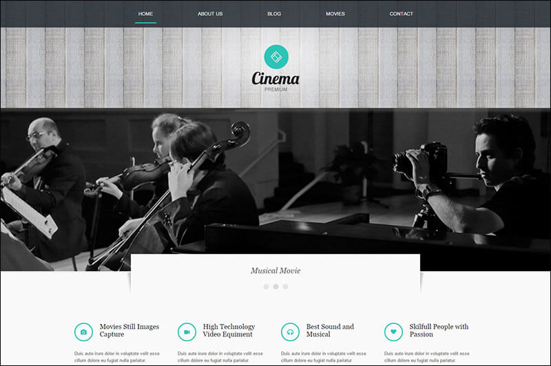 Cinema WordPress Theme