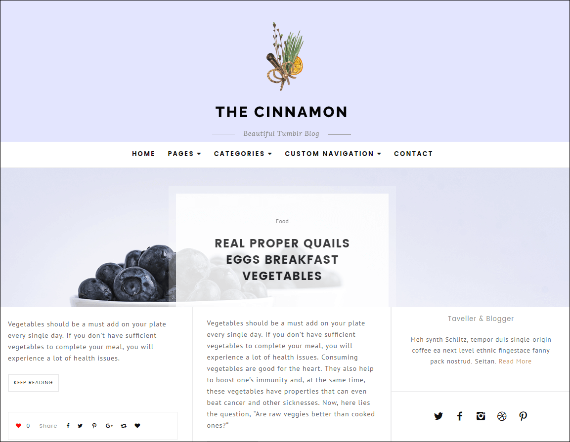 Cinnamon Casual Grid Tumblr Themes
