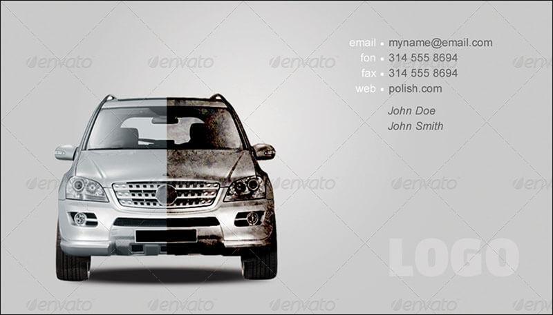 Clean & Dirty Business Card Car Polish