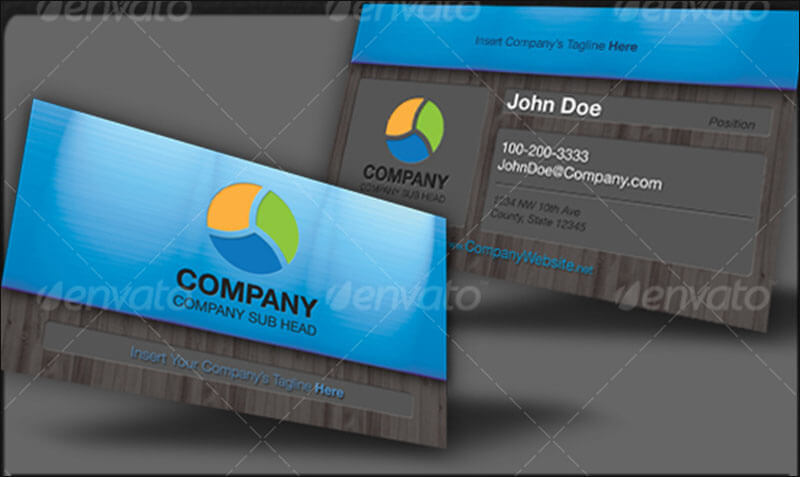 Clean Industrial Business Card