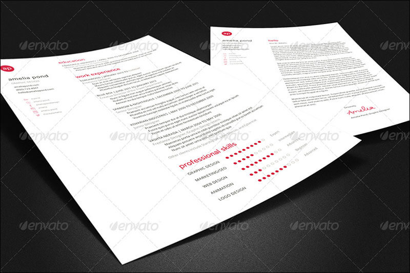 Clean Resume, Cover Letter, & Business Card Bundle