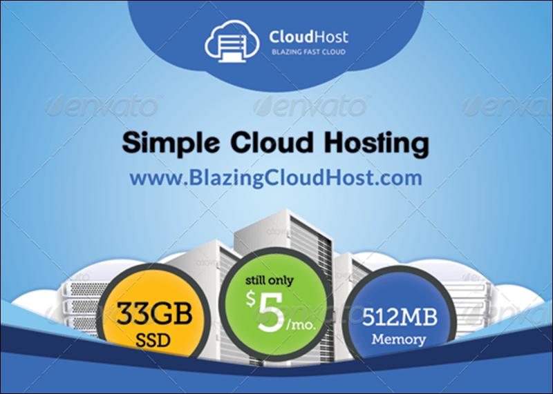 Cloud Hosting Service - Business Card Template