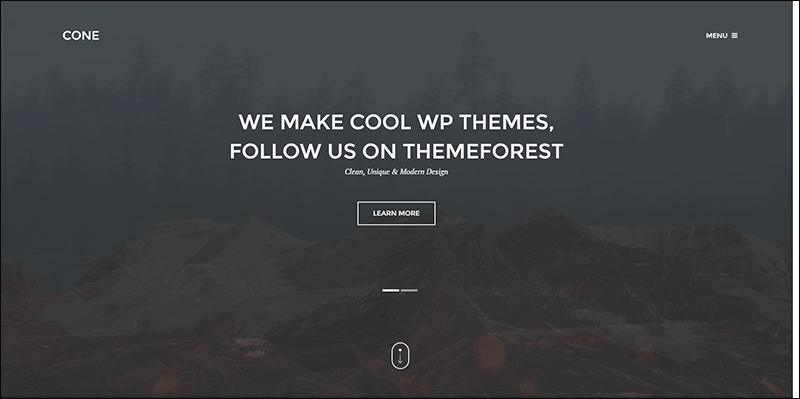 Cone - Onepage WordPress Theme