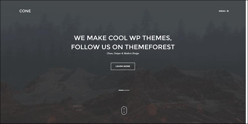 Cone - Onepage WordPress Theme