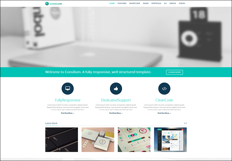 Consilium - Multipurpose Creative Joomla Template