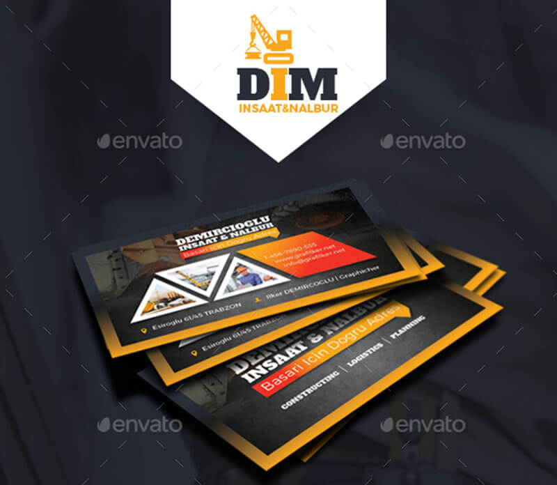 Best Logistics Business Card Templates Free Premium Template - Construction business card template