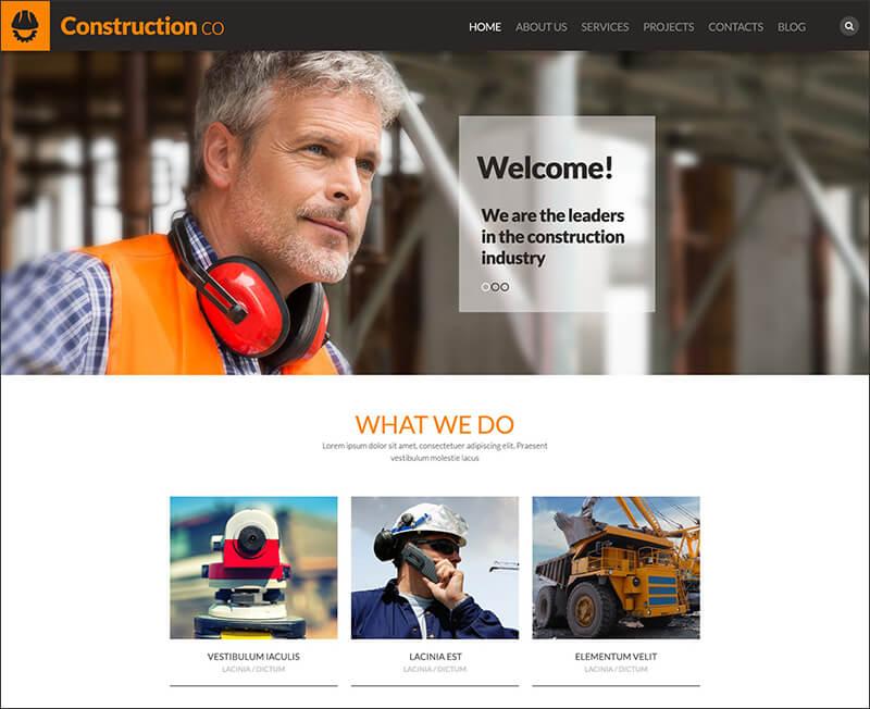 Construction Business WordPress Theme