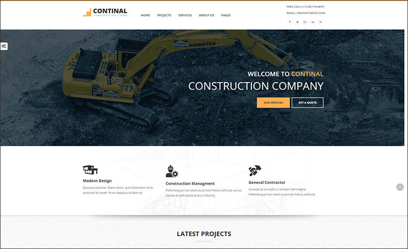Construction & Business WordPress Theme