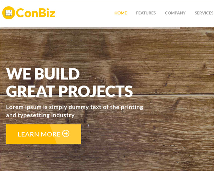 Construction HTML Website Template