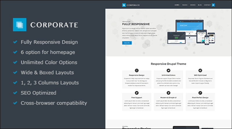 Corporate – Responsive Drupal 7 Theme