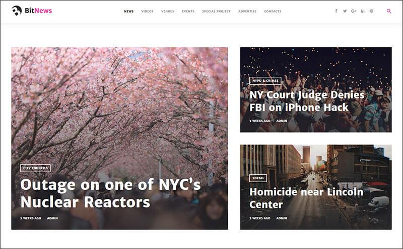 Corporate News WordPress Theme