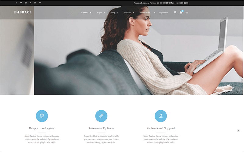 Creative Corporate WordPress Theme