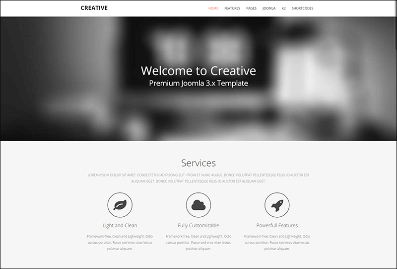 Creative - Responsive Joomla Template