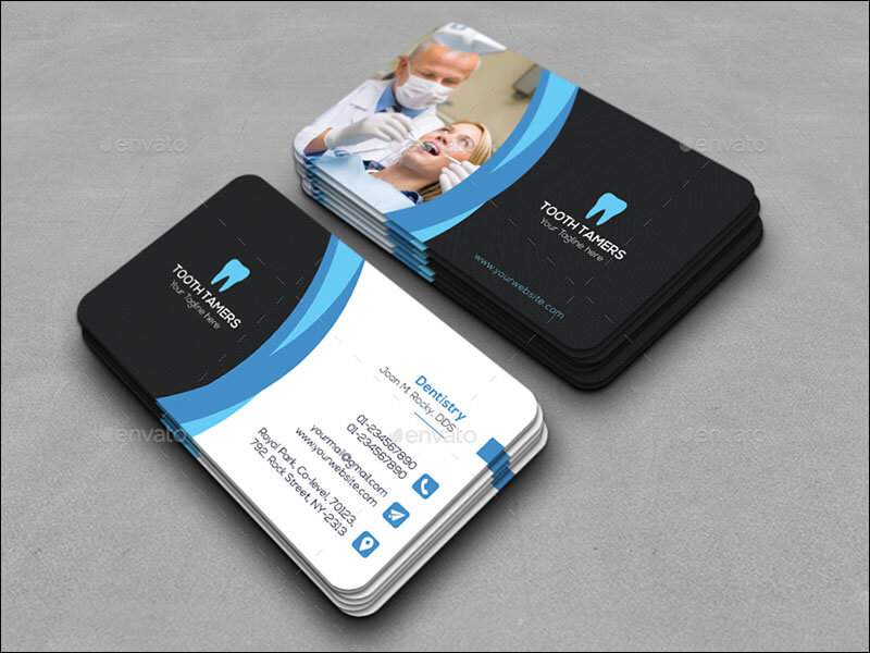 Beautiful Photograph Of Dental Business Cards - Business Cards