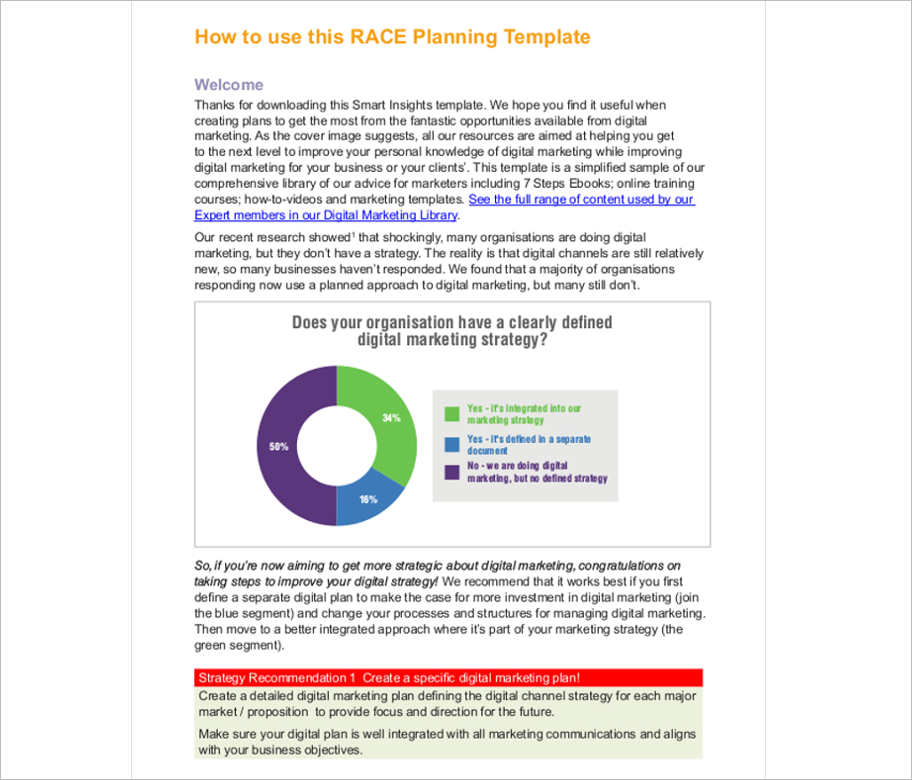 Free Marketing Strategy Planning Template Pdf Ppt Download