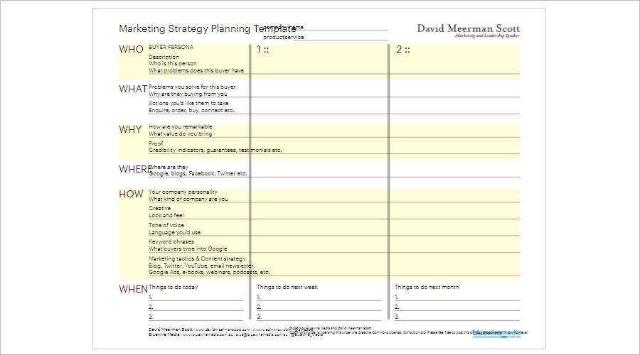 DirectMarketing Strategy Planning Template