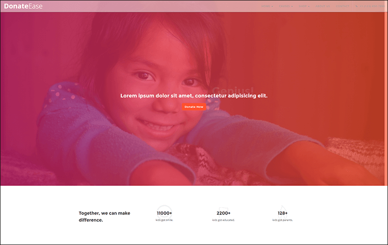 Donate Ease - Charity Fundraising HTML Template