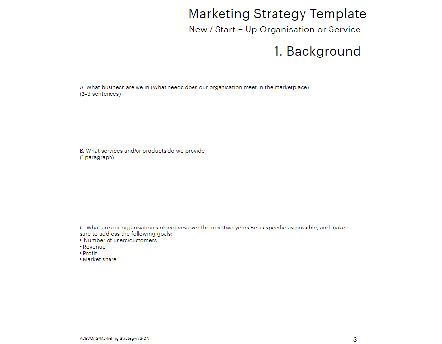 Download Marketing Strategy Template