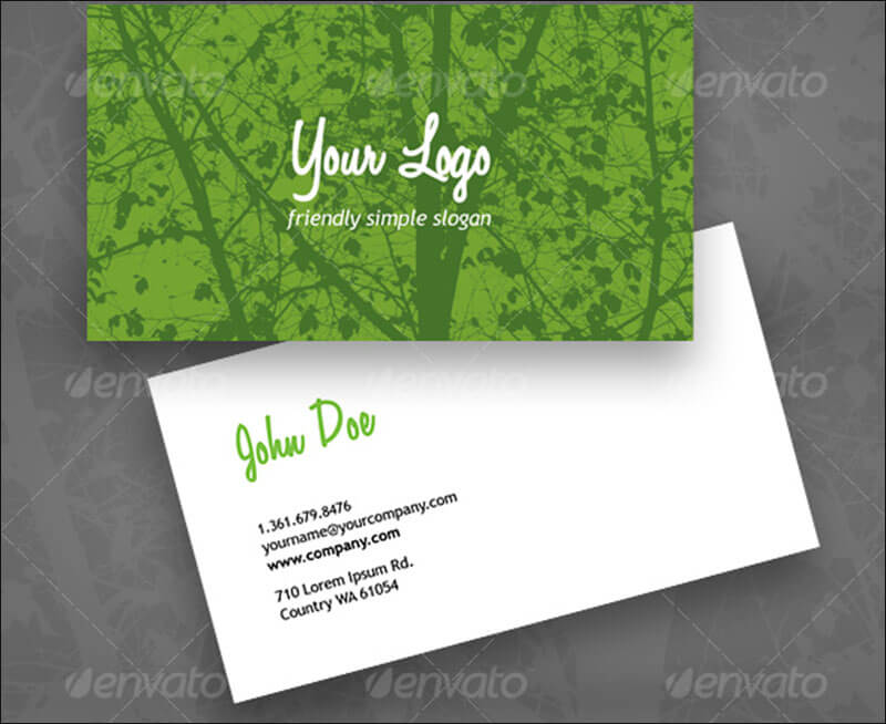 11 environment business card templates free designs eco green business card colourmoves