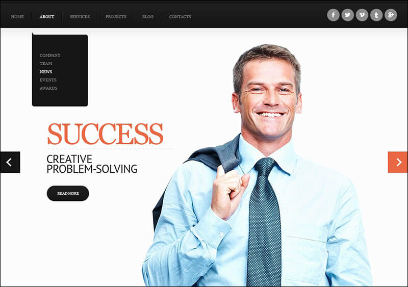 Elegant Accounting Joomla Template