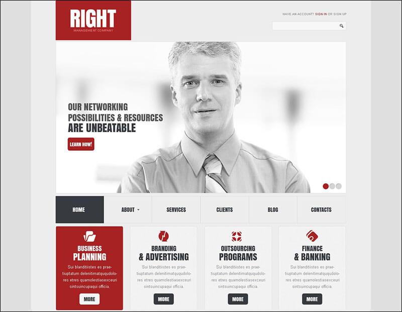 Elegant Management Company Joomla Template