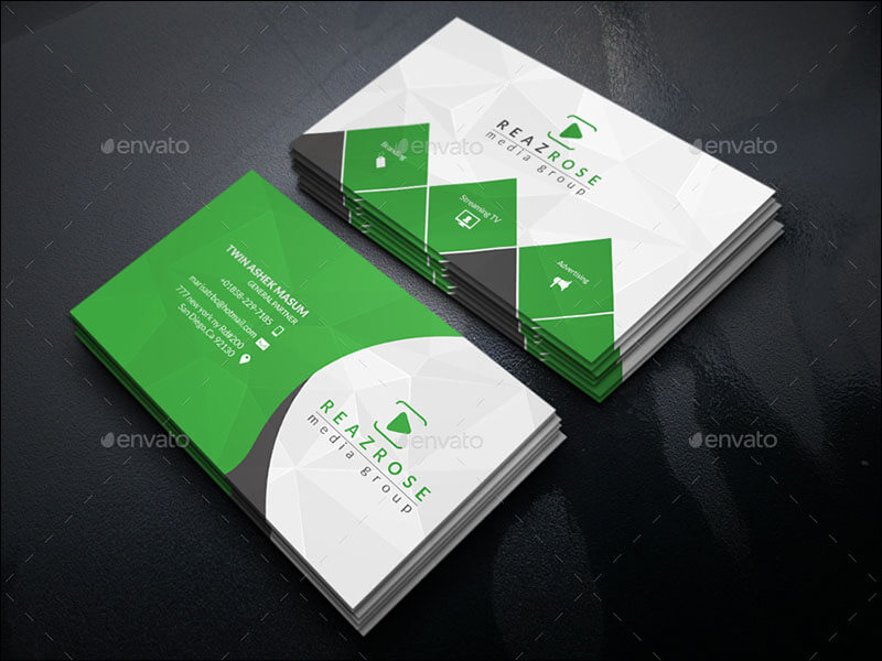 Elegant metro service business card