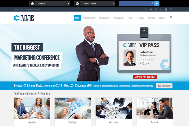 Eventus - Responsive Events Drupal Theme