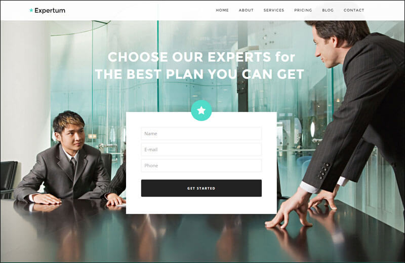 Expertum - One Page WordPress Theme