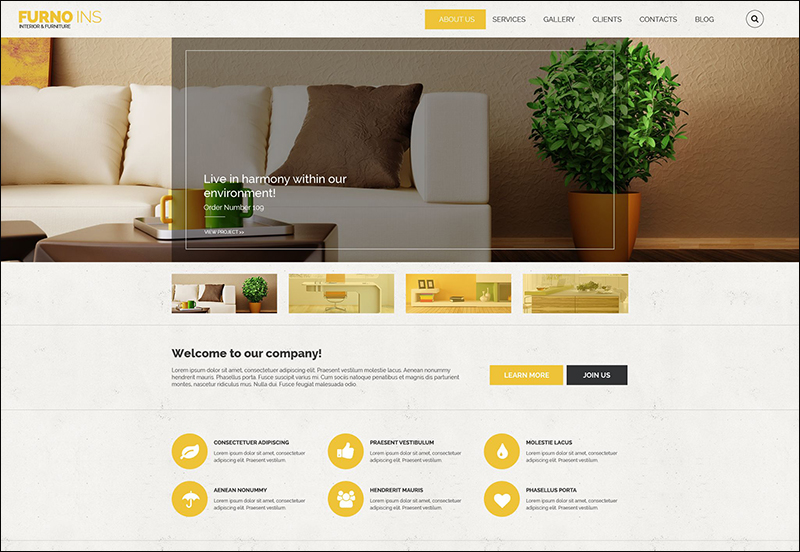 FURNO INS Drupal Template