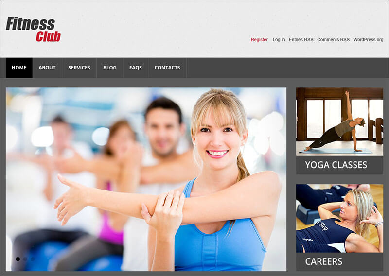 Fitness Responsive WordPress Theme 3