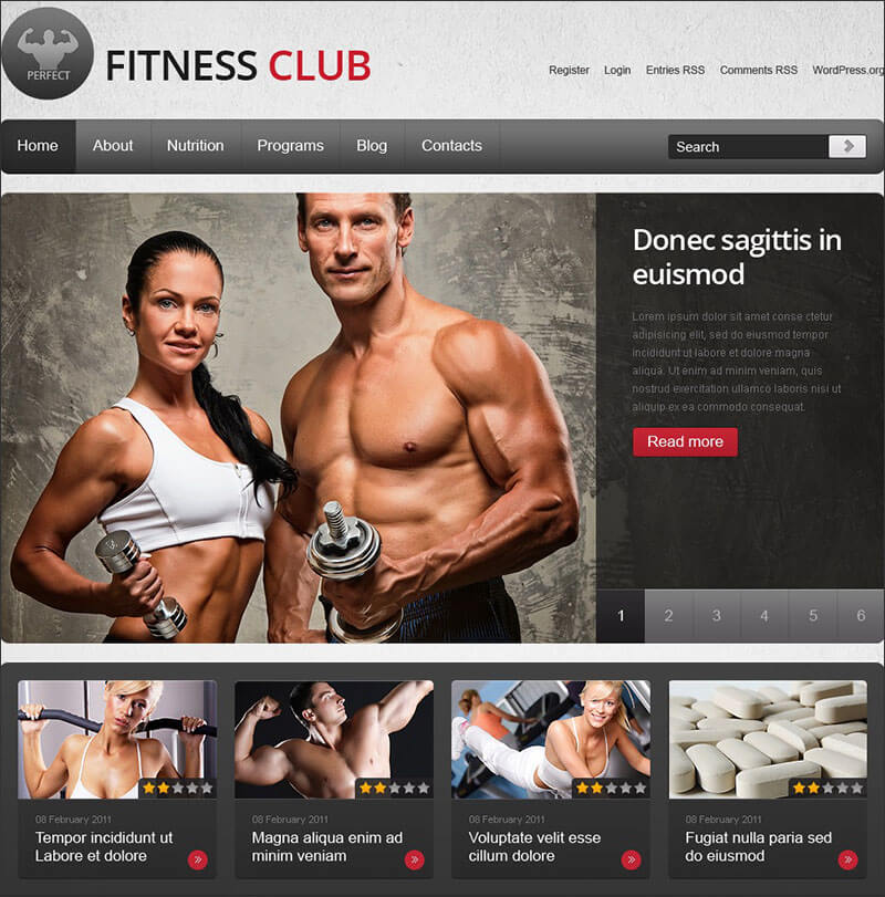 Fitness WordPress Theme 2