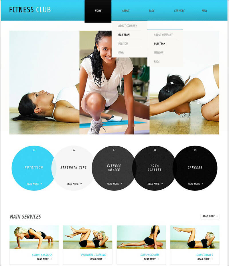Fitness WordPress Theme 3