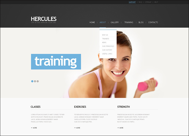 Fitness WordPress Theme 5