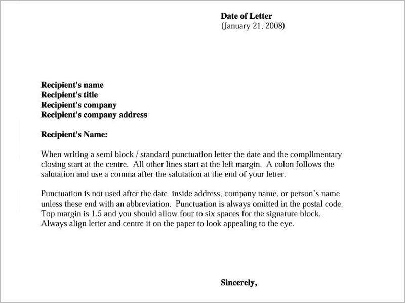Formal Letter In English