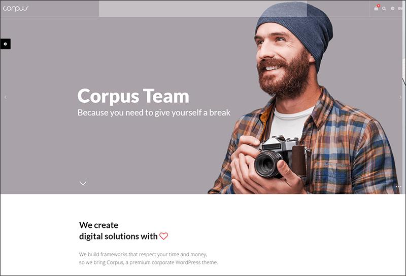 Fully Responsive Corporate WordPress Theme