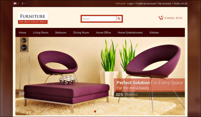 Furniture – Opencart Responsive Theme