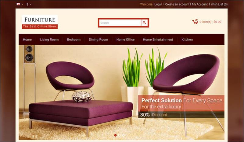 Furniture – Opencart Responsive Theme