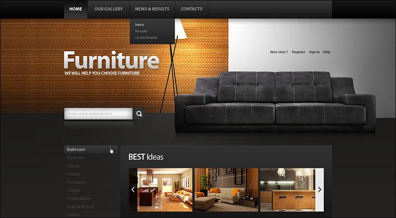 Furniture Drupal Template