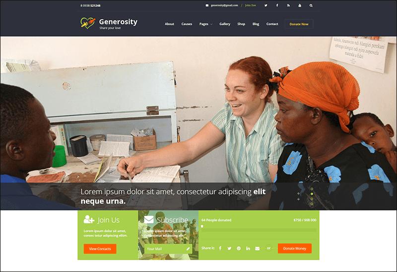 Generosity - Multipurpose Charity Nonprofit HTML Template