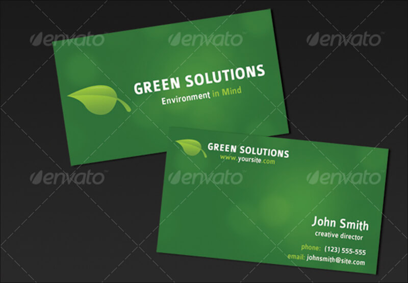 11 environment business card templates free designs green business card accmission Image collections