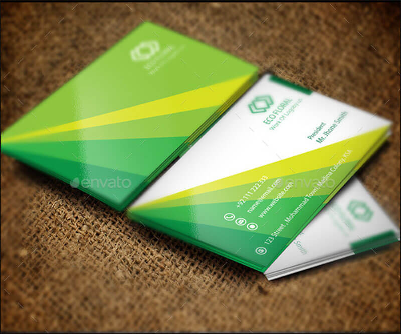 Green & Eco Fair Business Card